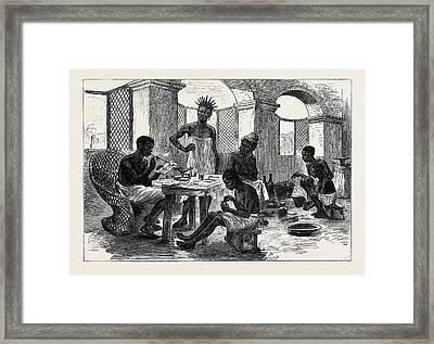 The Ashantee War Jewellers Shop Cape Coast Castle 1874 Framed Print
