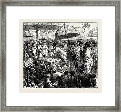 The Ashantee War, Reading The Queens Letter At The Palaver Framed Print