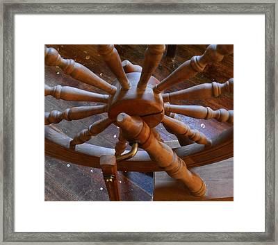 The Ashford Wheel Framed Print by Aliceann Carlton