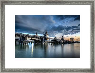 The Ashley River Memorial Bridge Framed Print by Walt  Baker