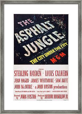 The Asphalt Jungle, Poster Art, 1950 Framed Print by Everett