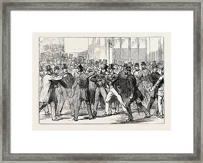 The Assault On M. Gambetta By M Framed Print by French School