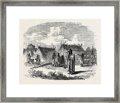 The Assinniboine And Saskatchewan Exploring Expedition Framed Print by English School