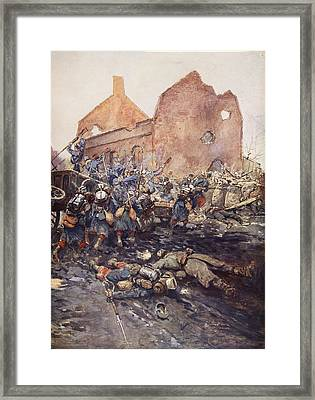 The Assualt Of Vermelles, 1915 Framed Print by Georges Bertin Scott