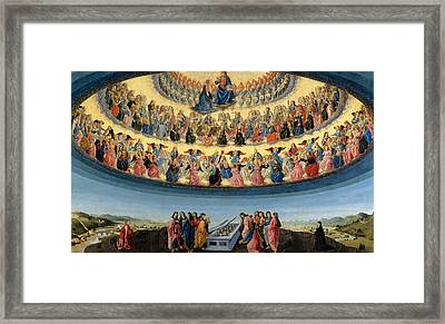 The Assumption Of The Virgin Framed Print by Francesco Botticini