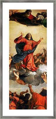 The Assumption Of The Virgin Framed Print by Titian
