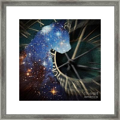 The Astronomer's Cat Framed Print