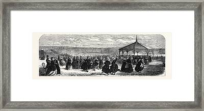 The Asylum For Criminal Lunatics Broadmoor The Airing-court Framed Print by English School