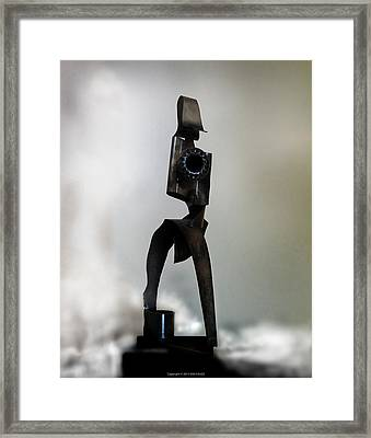 Framed Print featuring the sculpture The Athenian by Kim Gauge