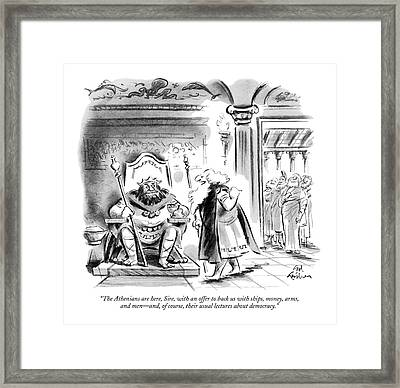 The Athenians Are Here Framed Print
