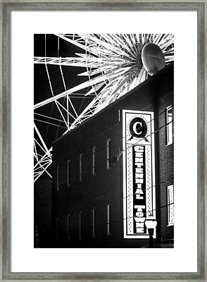 The Atlanta Wheel Framed Print