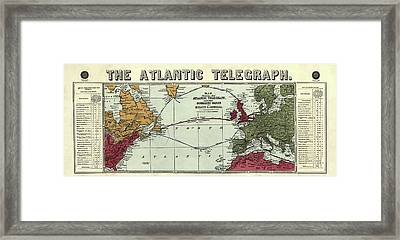 The Atlantic Telegraph Framed Print