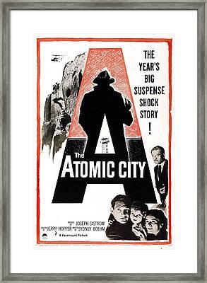 The Atomic City, Us Poster, Bottom Framed Print by Everett