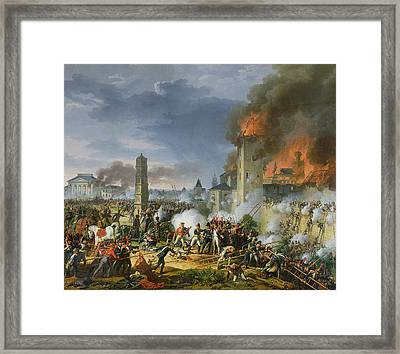 The Attack And Taking Of Ratisbon, 23rd April 1809, 1810 Oil On Canvas Framed Print