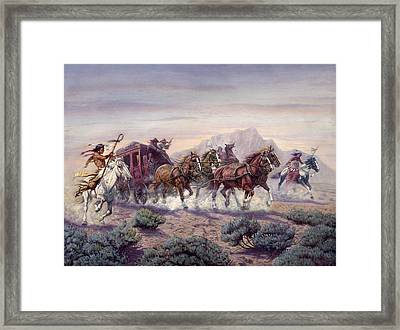 The Attack Framed Print by Gregory Perillo