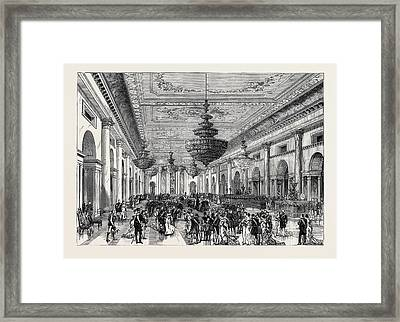 The Attempt On The Czars Life The Grand Ball-room Winter Framed Print