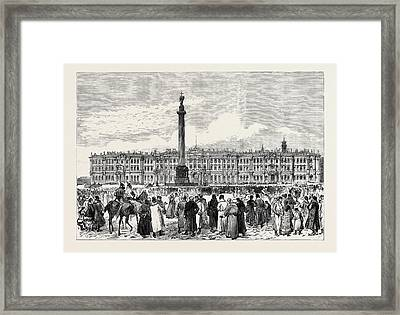 The Attempt On The Czars Life The Winter Palace St Framed Print by English School