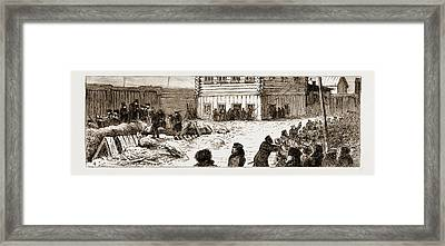 The Attempt To Blow Up The Imperial Train Near Moscow Framed Print by Litz Collection