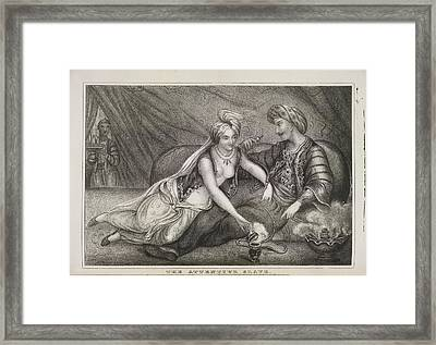 The Attentive Slave Framed Print