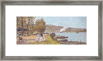 The Attractions Of A Visit To The Parisian Suburb Of Athis-mons With The 'chemins Framed Print by Luigi Loir