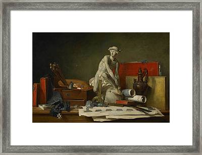 The Attributes Of The Arts And The Rewards Which Are Accorded Them Framed Print