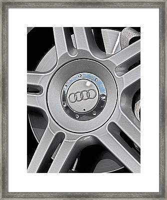 The Audi Wheel Framed Print