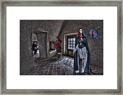The Audition. Framed Print by Roy Burns