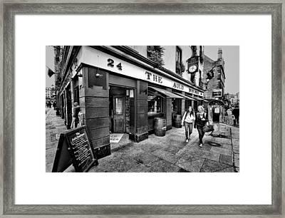 The Auld Dubliner Framed Print