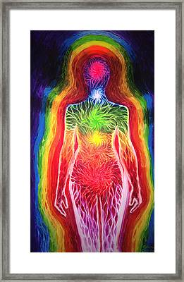 The Aura And The Chackra Energy Framed Print
