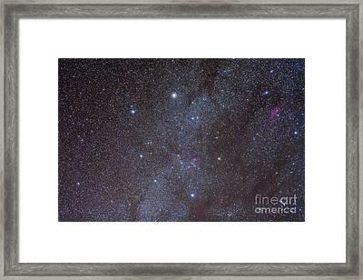 The Auriga Constellation Showing Lanes Framed Print