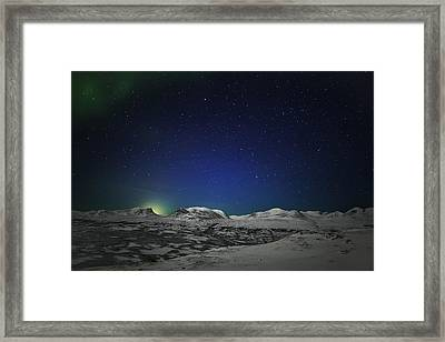 The Aurora Borealis Or Northern Lights Framed Print by Panoramic Images