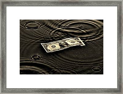 The Austerity Effect Framed Print by Robert Geary