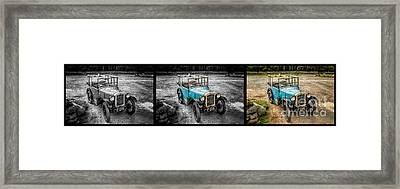 The Austin 7 Framed Print by Adrian Evans