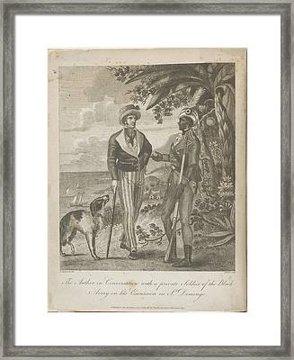 The Author In Conversation Framed Print by British Library