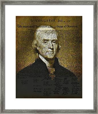 The Author Of America Framed Print by Bill Cannon
