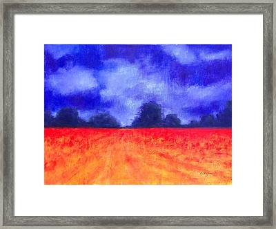The Autumn Arrives Framed Print