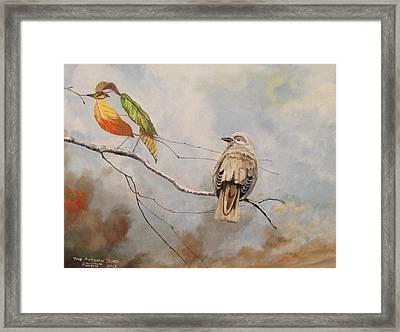 The Autumn Bird Framed Print