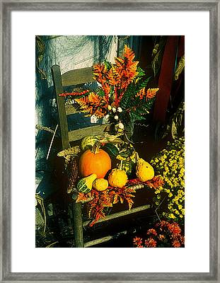 The Autumn Chair Framed Print