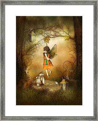 The Autumn Fairy Framed Print