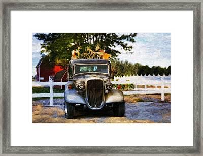 The Autumn Farm Framed Print