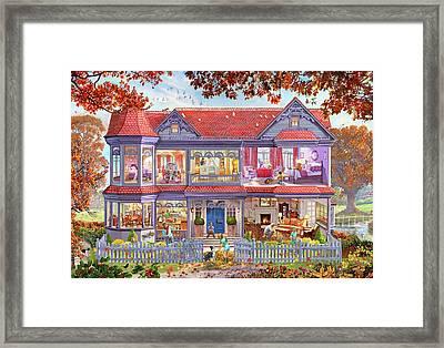The Autumn House - The Fall Framed Print