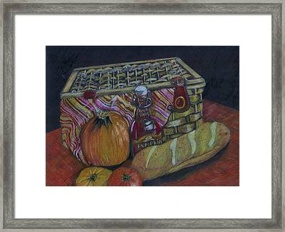 The Autumn Picnic Framed Print by Candace  Hardy