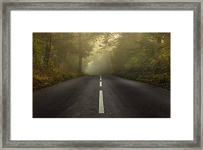The Autumnal Road Framed Print by Chris Fletcher
