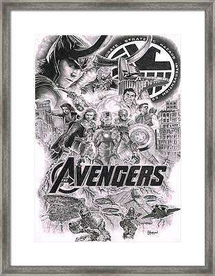 The Avengers Framed Print by David Horton