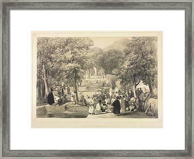 The Avenue At Baber's Tomb Framed Print by British Library