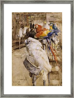 The Aviary, Clifton, 1888 Framed Print by Joseph Crawhall