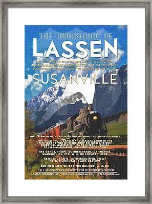 The Awakening Of Lassen Framed Print