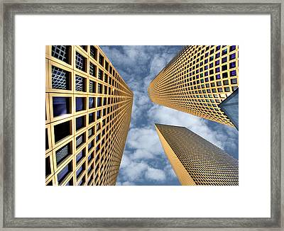 The Azrieli Center Framed Print