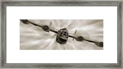 The B - 24 Liberator Panoramic  Framed Print by Mike McGlothlen