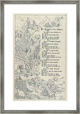 The Bachelor And The Mill-stream Framed Print by British Library